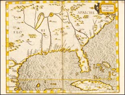 [Map of southeastern North America] from Descriptionis Ptolemaicae augmentum sive Occidentis …